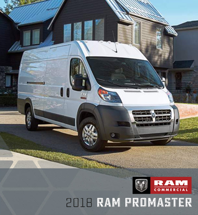 2018 RAM Promaster® Catalog